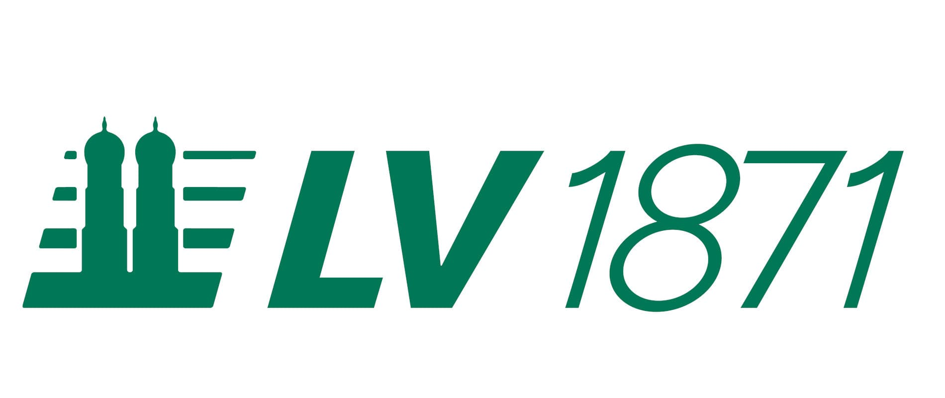 Partner: grüner Schriftzug auf weißem Hintergrund: LV 1871