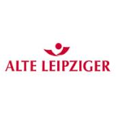 rote Schrift auf weißem Hintergrund: Logo Alte Leipziger Lebensversicherung a.G.